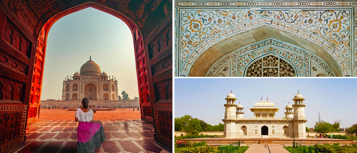 Take in the beauty of Taj Mahal