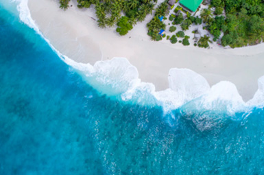 Maldives is made up of more than 1,000 coral islands
