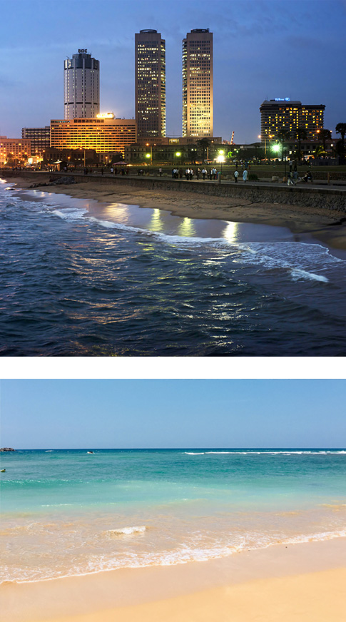 Galle - Colombo (2.5 hrs drive)